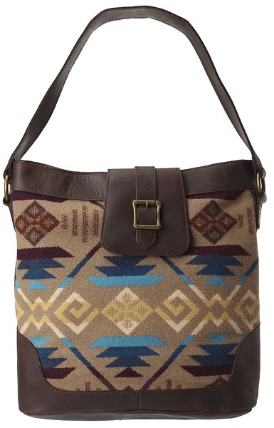 Pendleton Coyotte Butte Hobo Bag (Coyote Butte Khaki) - Bags and Luggage