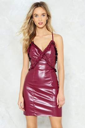 Nasty Gal It's All Coming to Leather Slip Dress