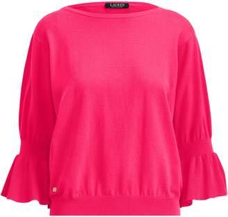 Lauren Ralph Lauren Ralph Lauren Ruffled-Cuff Cotton Sweater