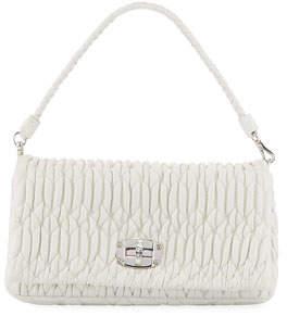 6836ec852d7 Miu Miu Matelasse Leather Shoulder Bag w  Crystal Lock