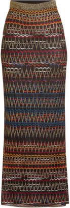 Missoni Knit Skirt with Metallic Thread