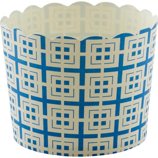 Container Store Large Baking Cups Tiles Blue Pkg/20