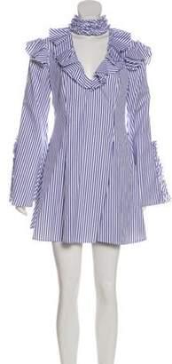 Caroline Constas Micki Striped Dress w/ Tags White Micki Striped Dress w/ Tags
