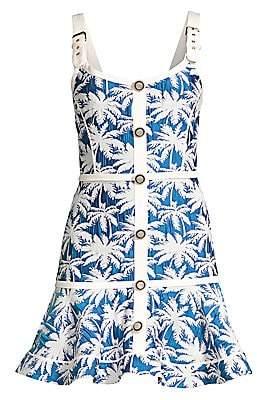 Alexis Women's Lisel Palm-Print Mini Dress