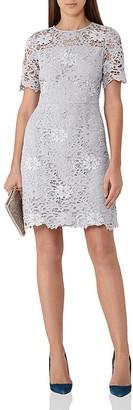 REISS Lina Lace Dress $495 thestylecure.com