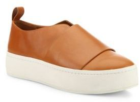Vince Wallace Leather Platform Skate Sneakers $250 thestylecure.com