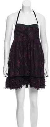 Alice + Olivia Lace Halter Dress