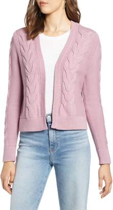 Halogen Open Front Cable Cardigan