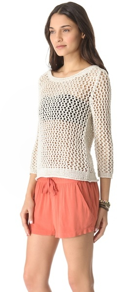Enza Costa Loose Knit Pullover