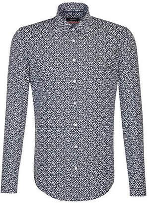 Seidensticker Bird-Print Cotton Sport Shirt