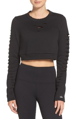 Women's Alo Ripped Warrior Crop Top $88 thestylecure.com