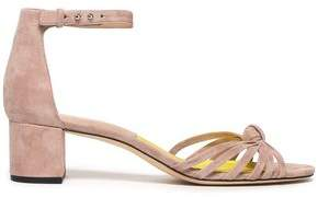 Diane von Furstenberg Fonseca Knotted Suede Sandals