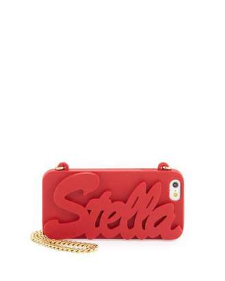 Stella McCartney Logo Script iPhone 6 Case on Chain, Cherry