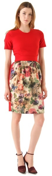 Preen Dress with Print Skirt