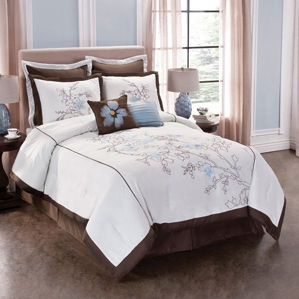 Tribeca floral embroidered 8-pc. comforter set
