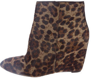 B Brian Atwood Ponyhair Wedge Booties $125 thestylecure.com