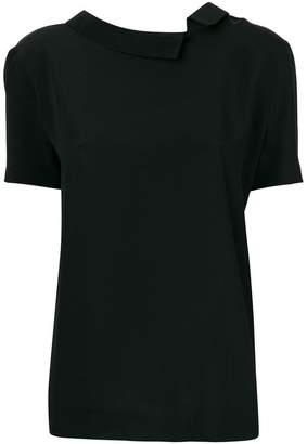 Marni asymmetric short sleeved blouse