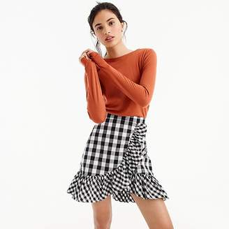 J.Crew Ruffle mini skirt in gingham