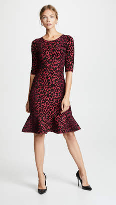 Milly Textured Cheetah Mermaid Dress