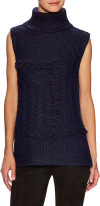 Derek Lam 10 Crosby Sleeveless Cable Knit Turtleneck