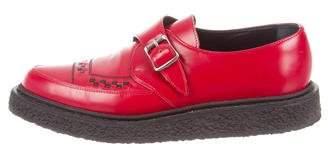 Saint Laurent 2014 Leather Monk Strap Creeper Shoes