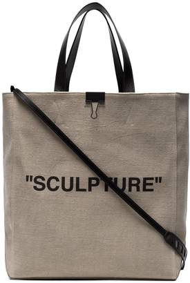 Off-White Neutral Sculpture Canvas tote bag