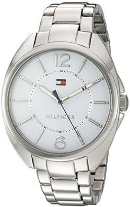 Tommy Hilfiger (トミー ヒルフィガー) - トミーヒルフィガーレディースクオーツステンレススチールAutomatic Watch , Color : silver-toned (モデル: 1781694 )