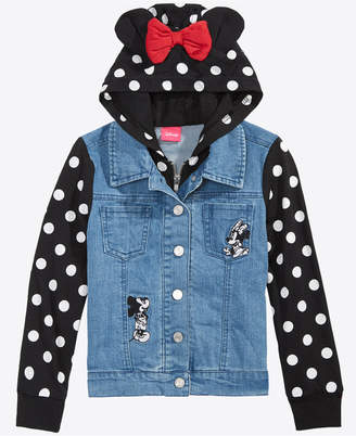Disney Little Girls Layered-Look Denim Jacket