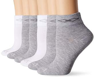 Peds Women's Coolmax Anklet Sock with Comfort Top and Arch Support (6 Pair Pack)