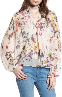 Bishop + Young BISHOP AND YOUNG Floral Choker Blouse