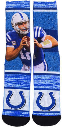 For Bare Feet Boys' Andrew Luck Indianapolis Colts Rush Player Jersey Crew Socks
