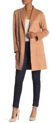 Catherine Malandrino Faux Suede Long Sleeve Jacket