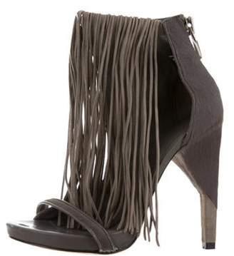 Alexander Wang Dree Fringe Sandals Grey Dree Fringe Sandals