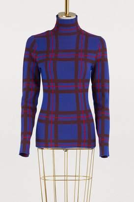 Etudes Sister plaid wool turtleneck sweater