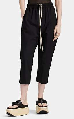 Rick Owens Women's Astaire Virgin Wool Drop-Rise Pants - Black