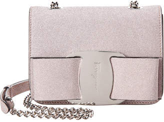 Salvatore Ferragamo Vara Bow Mini Glitter Crossbody