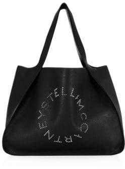 Stella McCartney Small Embellished Logo Tote
