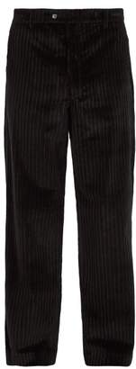 Aries Straight Leg Corduroy Trousers - Mens - Black Multi