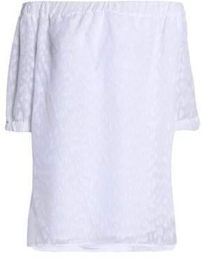 MICHAEL Michael Kors Off-The-Shoulder Fil Coupé Stretch-Knit Top