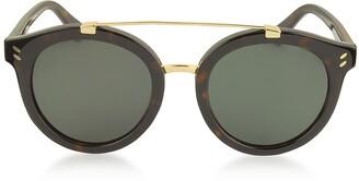 Stella McCartney SC0054S Round Aviator Acetate Women's Sunglasses
