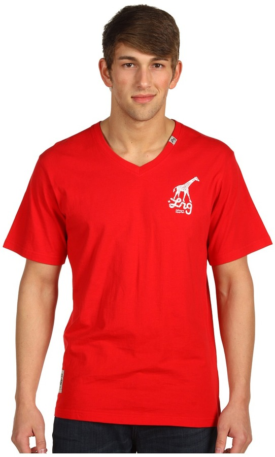 Lrg L-R-G - Core Collection Graphic V-Neck Tee* (Red) - Apparel