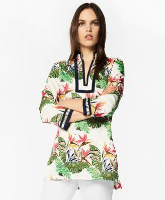 Brooks Brothers Tropical-Print Cotton Sateen Tunic