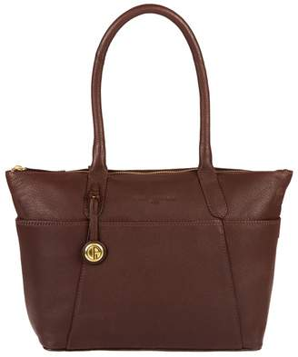 Eton Pure Luxuries London - Auburn 'Eton' Leather Handbag With Gold-Coloured Detailing