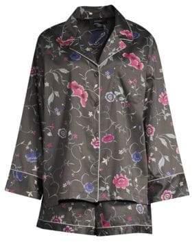 Natori Hana Floral Silk Two-Piece Sleep Set