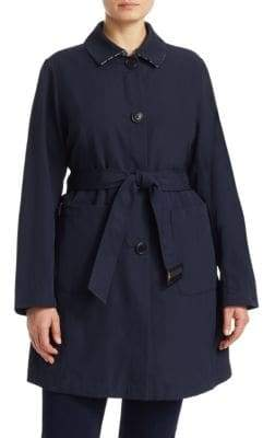 Marina Rinaldi Marina Rinaldi, Plus Size Belted Button-Front Coat