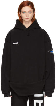 Vetements Black Inside-Out Shark Hoodie
