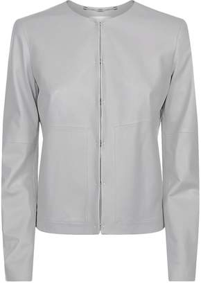Escada Sport Collarless Leather Jacket