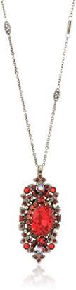 Sorrelli Ruby Salvia Long Strand Pendant Necklace