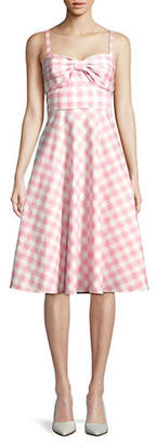 Eliza J Tie Front Pleated Skirt Sun Dress