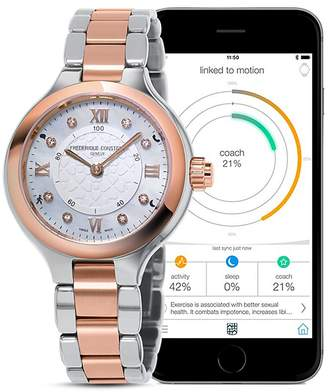 Frederique Constant Two Tone Horological Smart Watch, 34mm $1,295 thestylecure.com